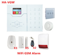 Most advanced Wifi Alarm System GSM GPRS Smart Hom Alarm System built in Temperature Sensor IP camera support