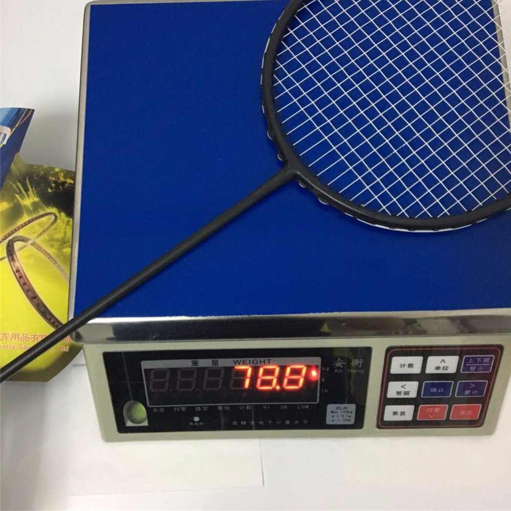2018 New Powerful badminton racket strong 35Lbs ultra light 6U stiff high modulus graphite badminton rackets male racquet