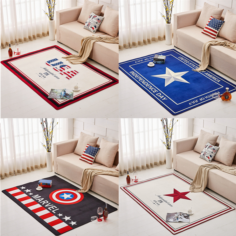 American Rug Modern Minimalist Personalized Creative Mat Living Room Coffee Mat Study Balcony Bedroom Marvel Usa Carpet Pad