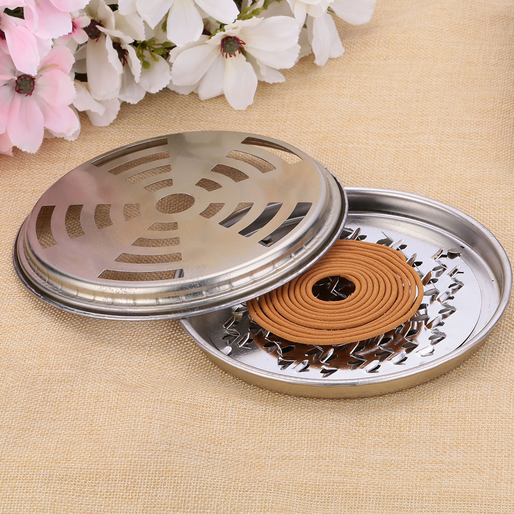Mosquito Killer Incenses Burner Holder Mosquito Coils Metal Insect Rack Repellent Rack With Cover For Home