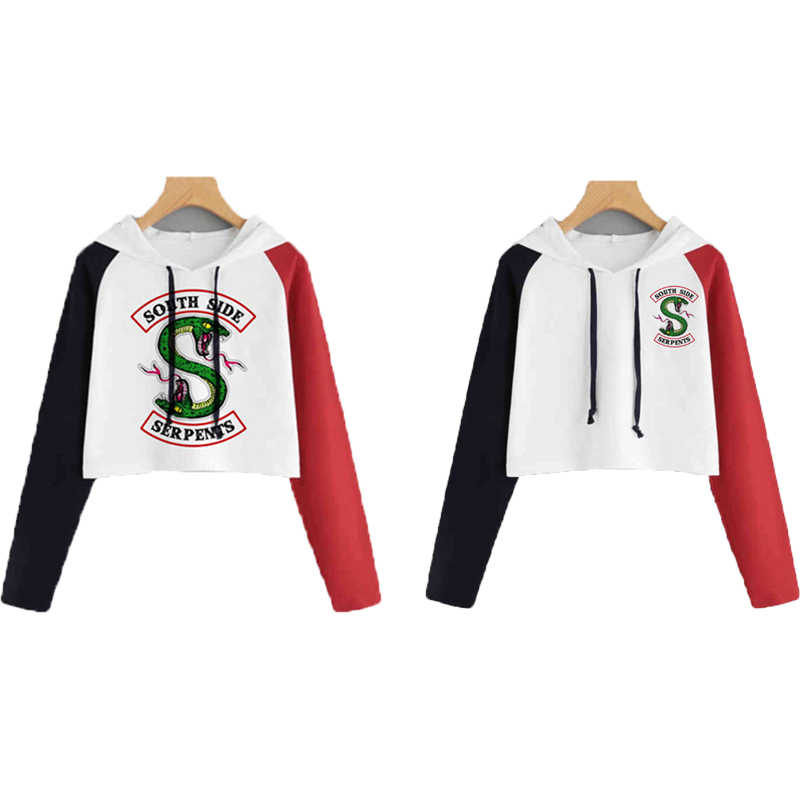 Kpop Clothes South Side Serpents Riverdale Hoodie Sweatshirt Women Girls Kpop Clothes Riverdale SouthSide Archie Andrews Costume