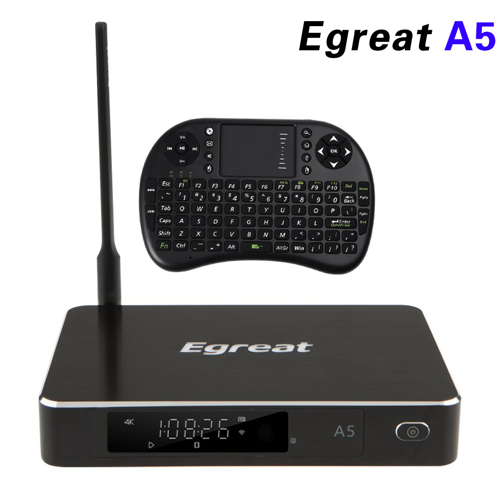 Egreat A5 Smart Android 5.1 TV Box 3D 4K UHD Media Player with HDR USB3.0 Support SATA OTA Blu ray Disc Dolby Ture HD DTS HD