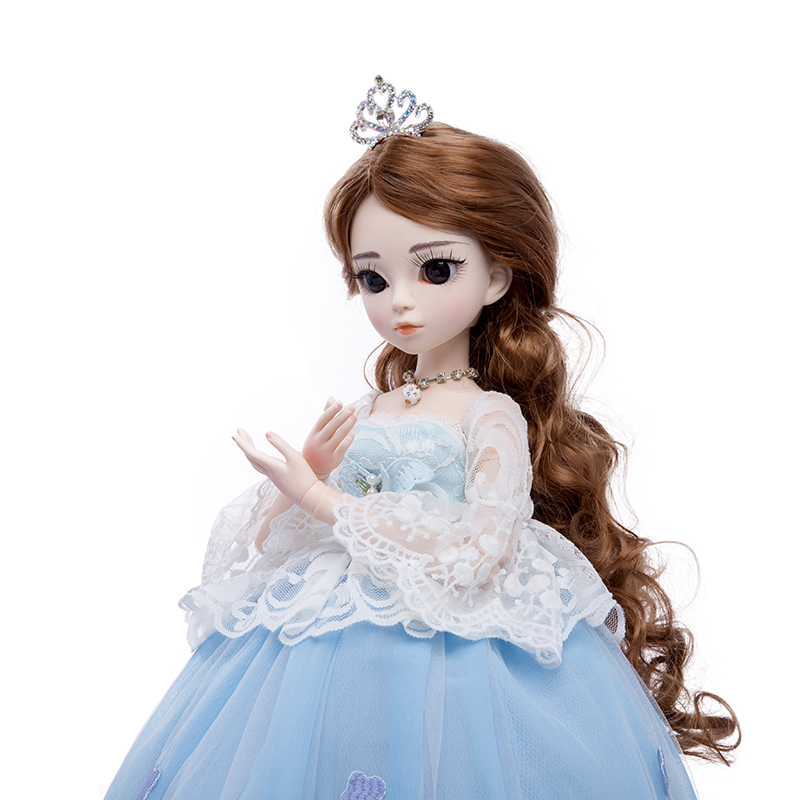 Princess anna 1 3 60CM BJD SD Dolls New Arrival With Dress Wigs Shose Hat Makeup