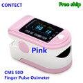 PINK CONTEC FDA&CE Pulse Finger Oximeter Blood Oxygen SpO2 Monitor, case, CMS50D