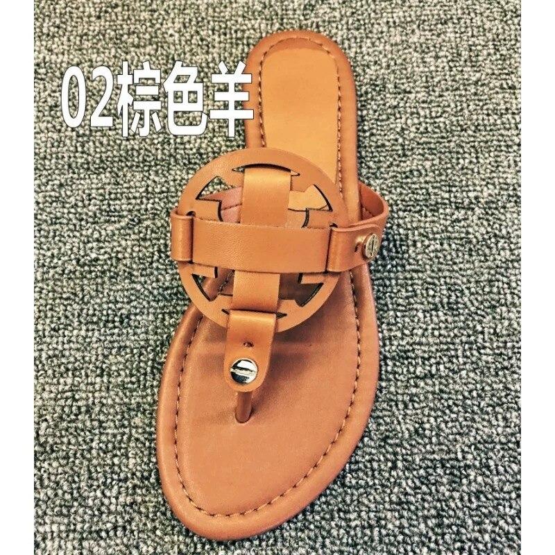 17 цветов женские большие размеры US4-11 сланцы классические леди Миллер сандалии из натуральной кожи шлепанцы с золотым металлическим шлёпан...