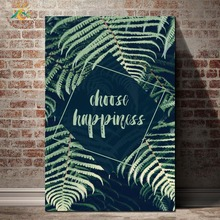 Green Palm Posters And Prints Wall Art Canvas Painting Nordic Poster Green Plants Home Decoration Wall Pictures For Living Room romantic nordic flowers poster canvas painting wall art pictures for lving room hd posters and prints pink green home decorative