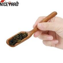Чайная ложка из натурального бамбука, высококачественный держатель для чайных листьев, ложка для чая, медовый соус, кофейная Делика, Ретро с...