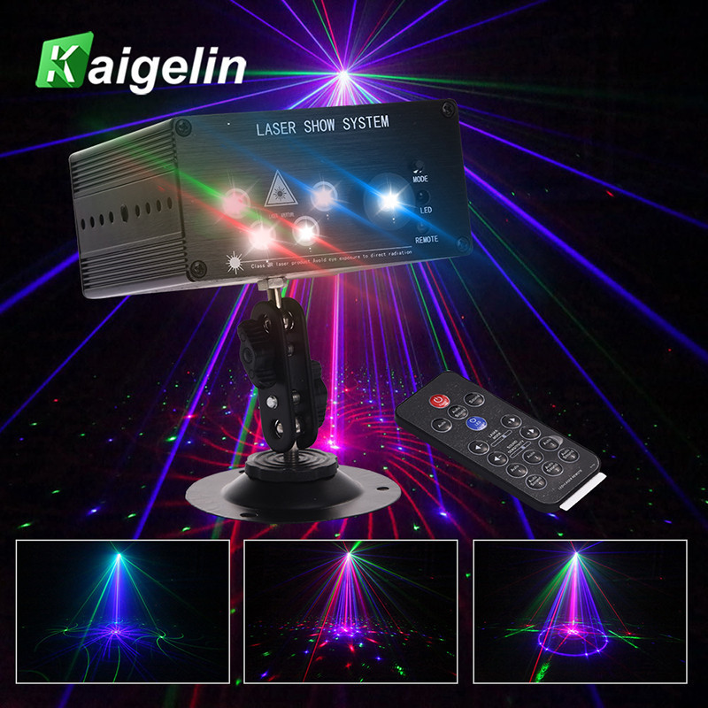 Par LED DMX Disco Party Light 96/48/36 Patterns RGB Laser Projector DMX Disco Stage Light IR Control For DJ Music Xmas Party 9w 24 pattern led par rgb laser projector dmx rotating professional controller stage light dj disco ktv party sound auto mode