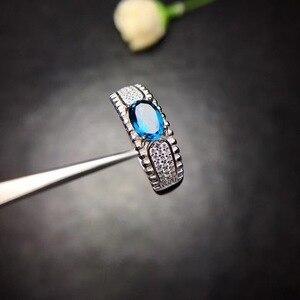 Image 3 - Tự nhiên Topaz Nhẫn 925 Bạc Sapphire Màu Xanh Sapphire sản phẩm mới cập nhật mỗi ngày để tập trung vào những người bán hàng.