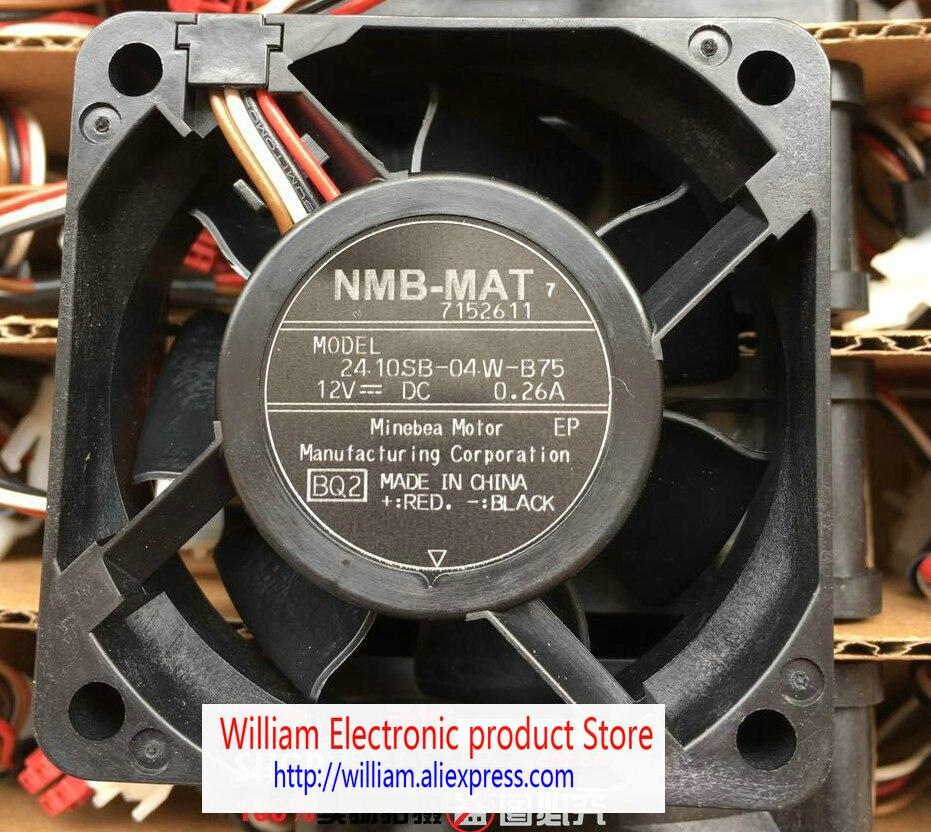 New Original NMB 2410SB-04W-B75 12V 0.26A 60*60*25MM 6MC 4 Lines for Panasonic drum washing machine cooling fan original new for lg drum washing machine door hinge 42741701 1pcs
