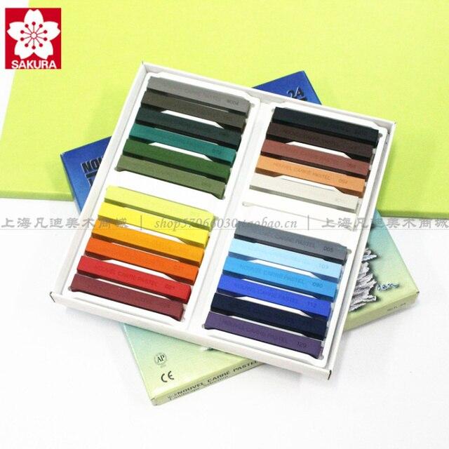 original sakura 24 series pastels stick color chalk powder paint