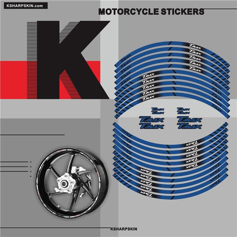 Wheel Inner Wheel Sticker Motorcycle Sticker Rim Reflective Decorative Waterproof Anti-fade Decal For YAMAHA TMAX