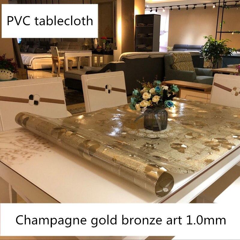 PVC Soft Glass Table Cloth Waterproof Plastic Coffee Table
