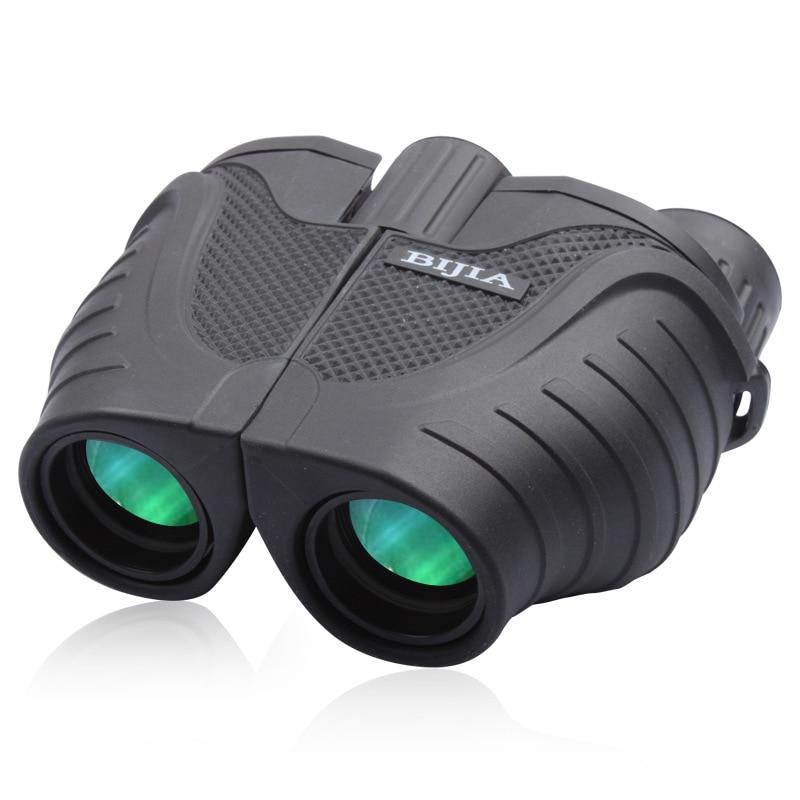 Heat Sell Brand BIJIA10x25 font b Binocular b font Telescope Waterproof Green Film Super Clear Mirror