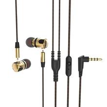 Original PLEXTONE X46M Hot Sale Earphones with Microphone Detachable HiFi Metal Super Bass In ear Earphones for DJ Mobile Phone