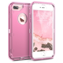 GrandEver 360 Hybrid Case For iPhone 7 plus 6 6s 8 Case Clear Pink Purple Silicone  Bumper PC+TPU Protective Cover For iphone X стоимость