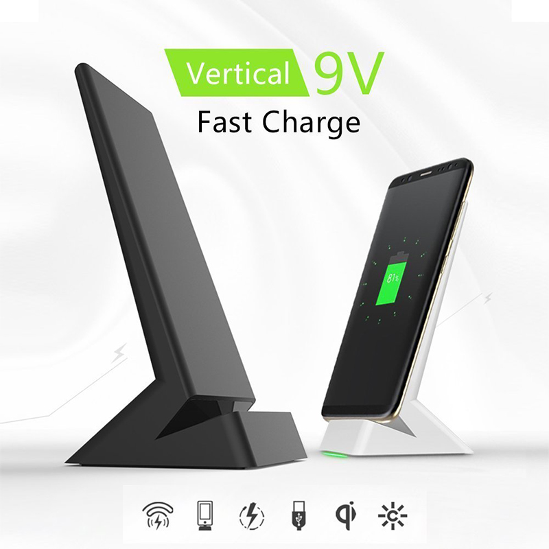 Suntaiho Qi Wireless Charger 10W Quick Charge for Samsung S8 S8 Plus Note 8 S7 Edge Nexus 4 Fast Charging 2.0 W9 for iPhone 8 X