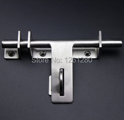 free shipping door bolt House Ornamentation Door Hardware Locks stainless steel  padlock latch thickened Door Latches 2pcs set stainless steel 90 degree self closing cabinet closet door hinges home roomfurniture hardware accessories supply