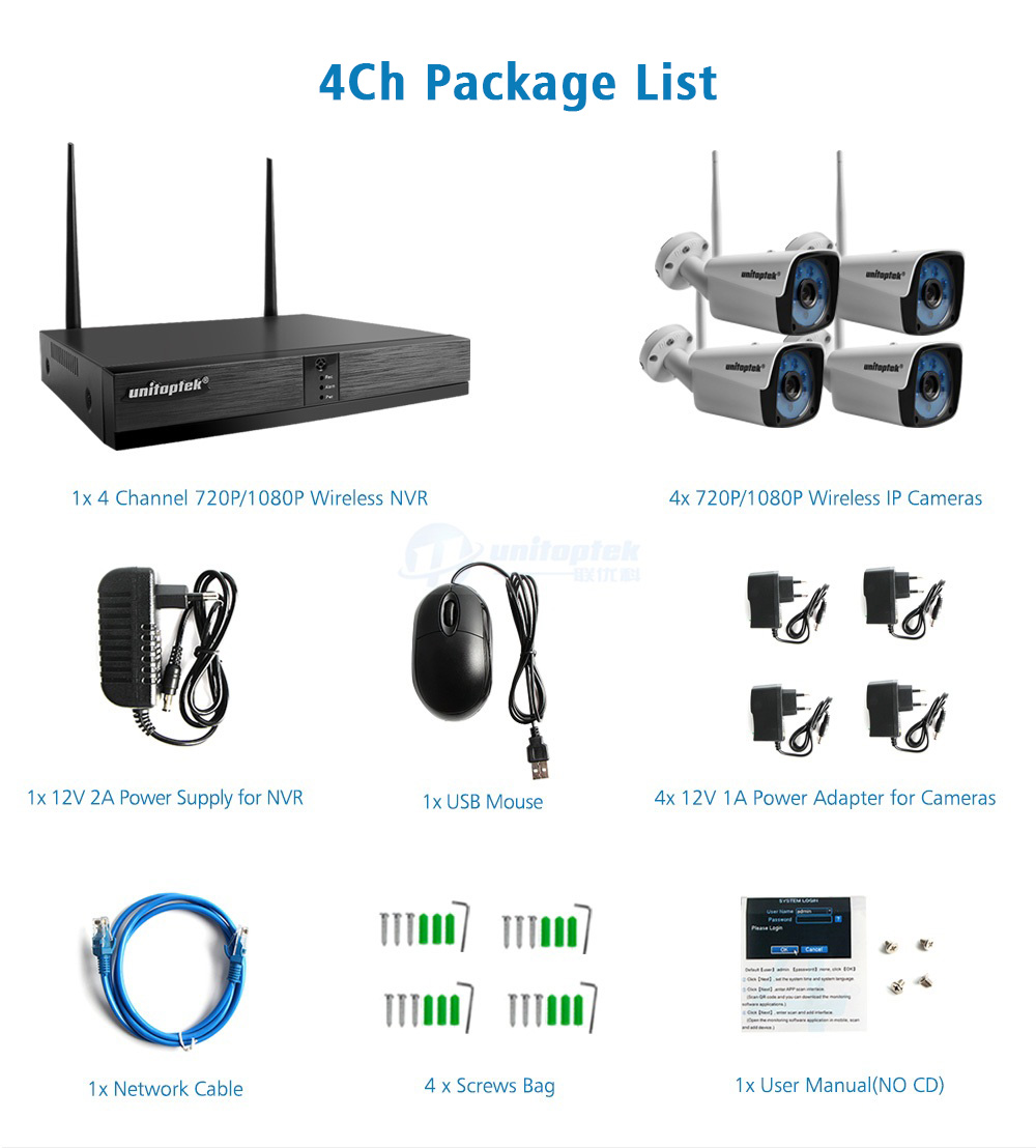 13 720P Wireless Camera Kit