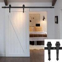 5FT 6FT 6 6F 7 5FT 8FT 8 2FT Classic Single Door Black Sliding Barn Door