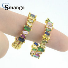 5 Pairs,Women Fashion Jewelry ,The Circle Shape Irregular Zircon Earring,Top Quality Gold Plating