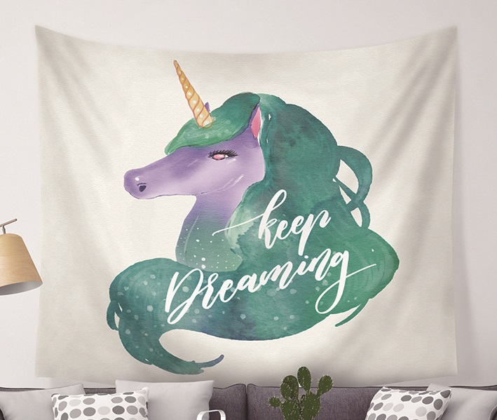 Image 5 - CAMMITEVER Unicorn Fairy Theme Wall Hanging Tapestry Cute Animal Hippie Mandala Yoga Mat Bedspread Sheets Home Decor-in Tapestry from Home & Garden