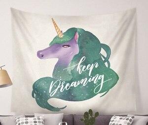Image 5 - Cammiever tapisserie murale à motif licorne, motif Animal mignon, Hippie, Mandala, Yoga, couvre lit, décoration de maison