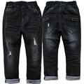 4010 тощие черные джинсы мальчик джинсовые брюки весна осень мальчиков брюки turn ups дети детские джинсы повседневная эластичные джинсы отверстие