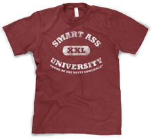 Smart ass University T Shirt funny college shirt sarcastic tee school Harajuku Tops Fashion Classic Unique free shipping