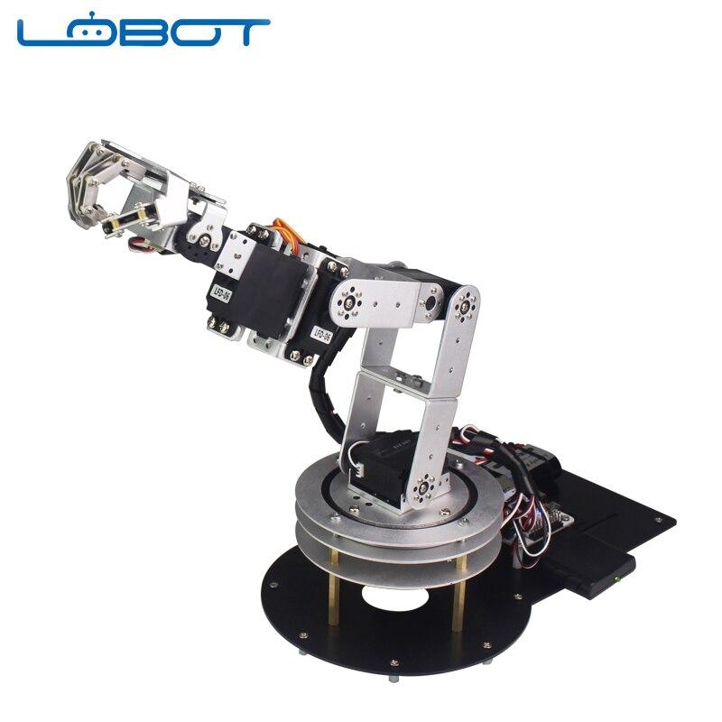 6DOF Robot Arduino bras cinq doigts alliage danse main Kit avec humanoïde télécommande RC pièces Robot jouet - 3