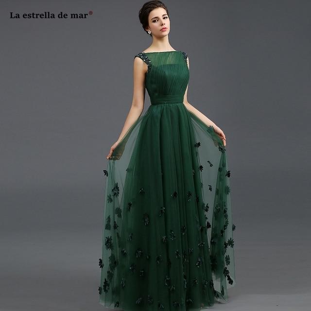 Vestido de madrinha de casamento longo verde