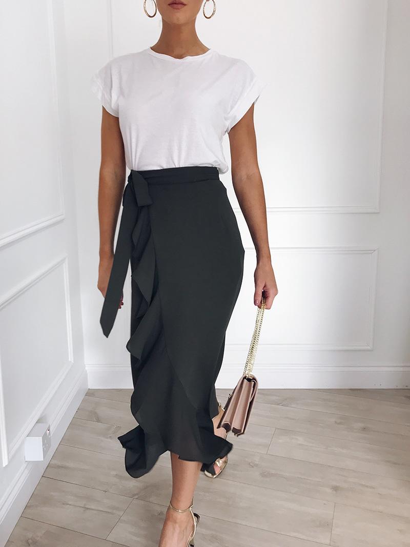 Hot Sale 19 New Slim Fashion Casual Women Leopard Print Boho Wrap Over Aysmmetric Loose Skirt Summer High Waist Midi Skirts 16