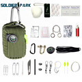 Outdoor EDC Paracord Survival Kit Emergency Multifunctional Tools EDC Gear for Camping Hunting Utility Quick Release Accessories