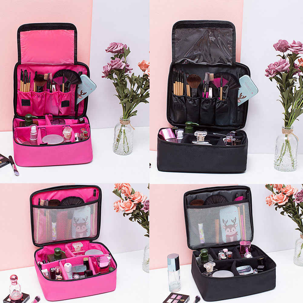 Professional Large Makeup Bags Travel Cosmetic Storage MakeUp Bags Kit Folding  Hanging Toiletry Wash Organizer Pouch 258afbcf6c3de
