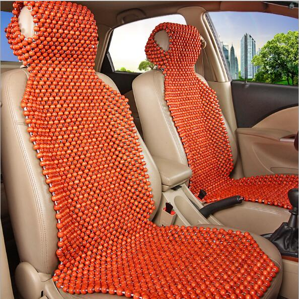 Luxury Car Seat Cushion Hand-woven Ice Silk with Wood Beads Car Seat Cover Summer Front&Rear 5 Seat Universal Car Seat Cushion luxury car seat cushion hand woven ice silk with wood beads car seat cover summer front