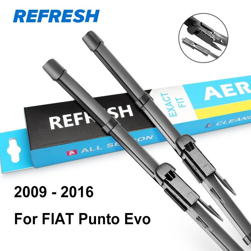 REFRESH Щетки стеклоочистителя для FIAT Punto Evo / Punto 3 двери / Punto 5 дверей / модель Grande Punto Год выпуска с 1999 по год - Цвет: 2009 - 2016 ( Evo )