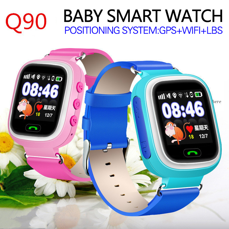 Q90 kids GPS font b Smart b font font b Watch b font phone touch screen