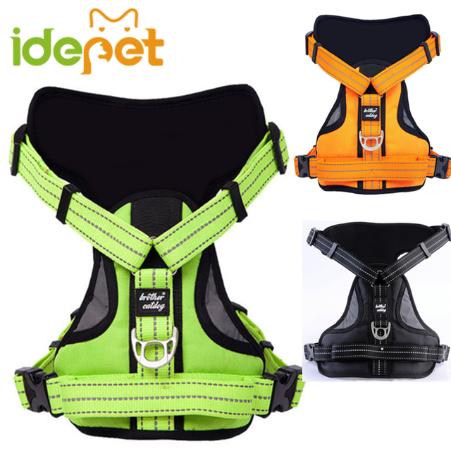 Reflective Large Dog Harness Training Pet Product for Small Medium Dogs Adjustable Harness no Leash 11ay39