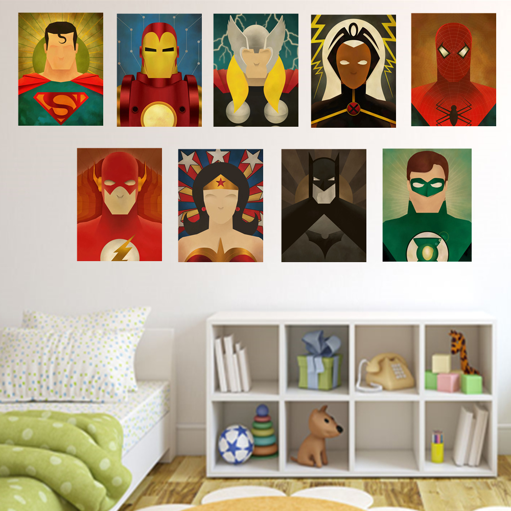 Movie Superheros Canvas Painting Home Wall Decor Cartoon Superheroes Wall  Picture Children Room Decor Poster HD Print Unframed In Painting U0026  Calligraphy ...