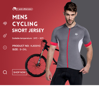 Santic Men Cycling Jersey Cycling Shirts Short Sleeve Pro Fit Road Bike Gray Cycling Clothing Red Zipper Breathable KJ6301G
