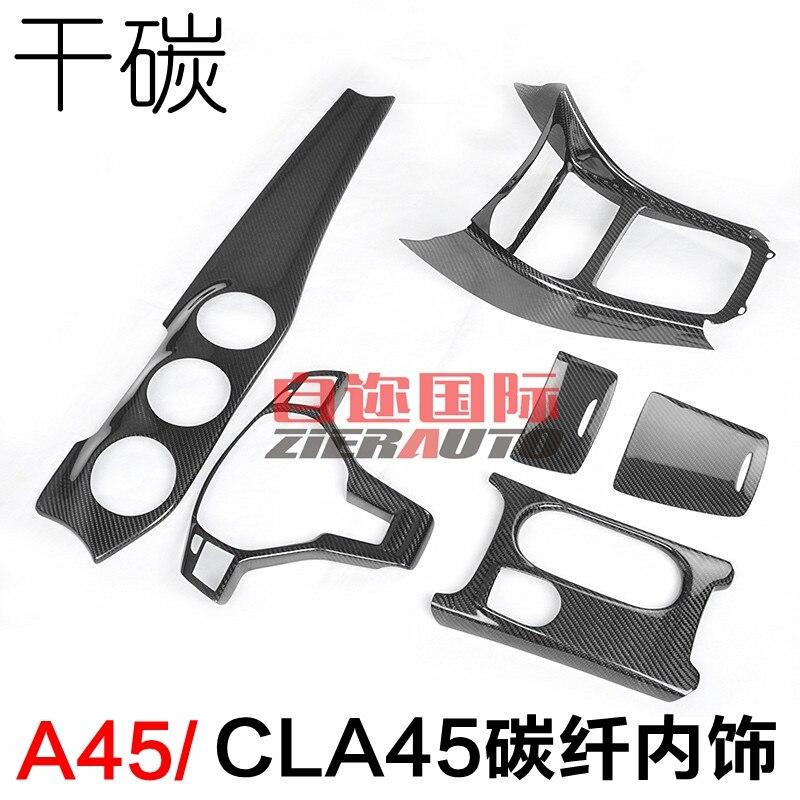 Fit For Mercedes Benz A45 CLA45 GLA45 AMG Carbon Fiber Interior Decoration