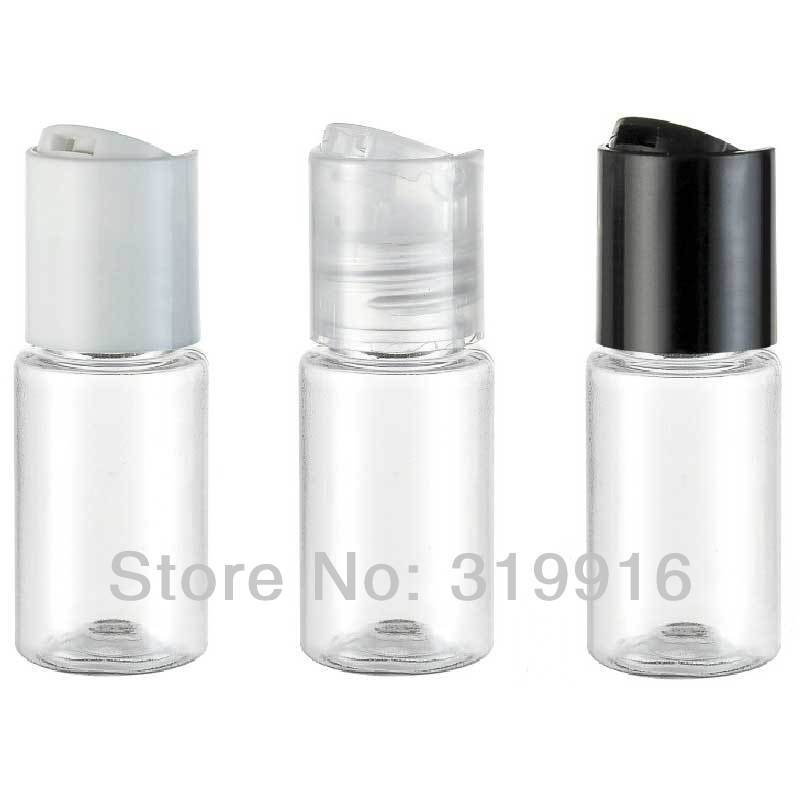 10ml X 100 Transparent Small Travel Hotel Empty PET Plastic Sample Bottle ,Mini Oil Plastic Vial  Shampoo Lotion Container
