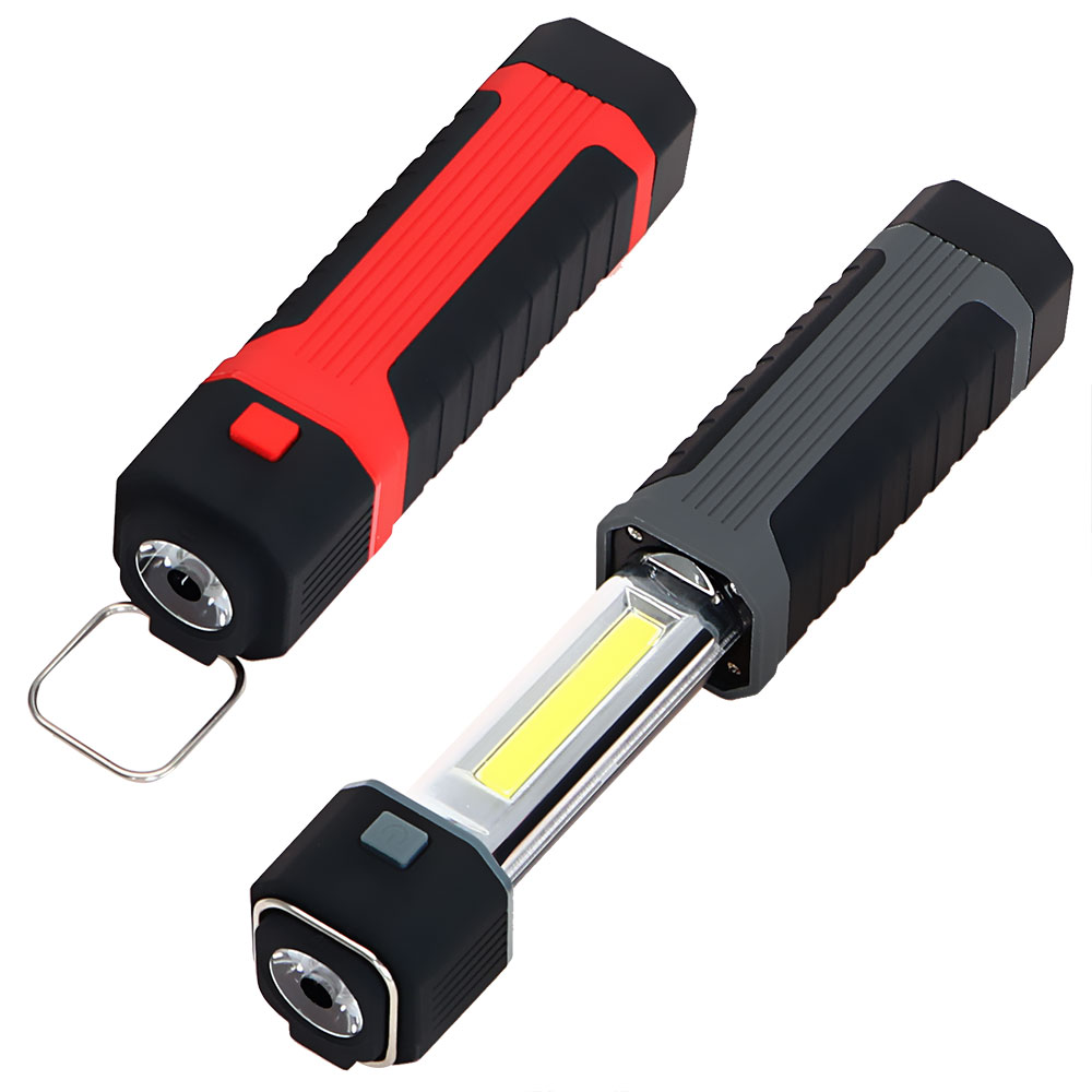 Camping Light High Quality 2 in 1 COB Working Repairing Lamp LED Stretchable Flashlight Magnetic Torch with Hook Magnet 3W  цена и фото