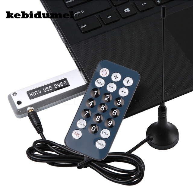 US $7 21 12% OFF|kebidumei Digital USB DVB T 2 0 HDTV Tuner Recorder  Receiver Software Radio DVB T Tuner HD TV with Antenna for Notebook  Laptop-in TV