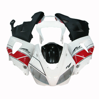 Motorcycle fairings kit for 98 99 white YAMAHA R1 YZF R1 fairing kit for 1998 1999 aftermarket body parts LV68