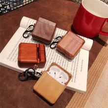 For AirPods Case Wood Real Bamboo Wireless Bluetooth Earphone Cases Apple Airpods 2 Carbon Cover Funda