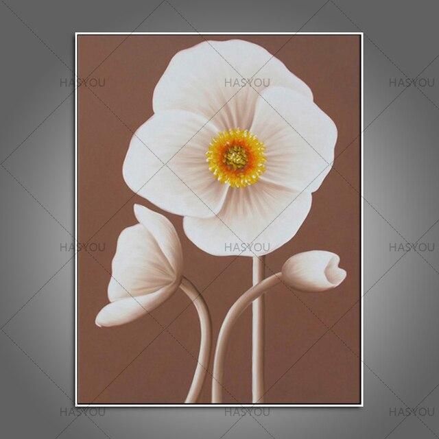 Hand print ed wall art oil painting china style lovely white flower hand print ed wall art oil painting china style lovely white flower on canvas modern mightylinksfo
