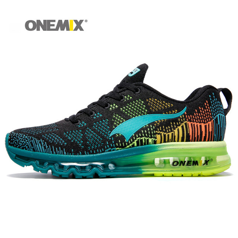 7dd118473d1d0 Onemix Air Cushion Running Shoes For Men Breathable Mesh 2018 Outdoor  Athletic Sport Footwear Light Training Sneakers Size 39-47
