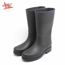 HelloZebra  All-Terrain Men's Rain Boots  Anti-skid Wear Resistant Waterproof Rain Boots Mid-calf Rain Shoes For Fishing