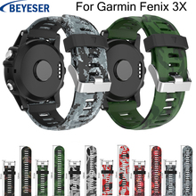 Silicone watchband for Garmin Fenix 5X Plus replacement wristband classic strap wriststrap For 3 /3HR watch band